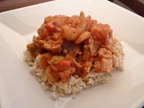CrockPot Cajun Chicken and Shrimp Creole