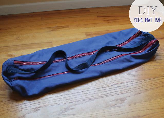 3c9e065f8576 see how i run  DIY - I AM. Zippered Yoga Mat Bag