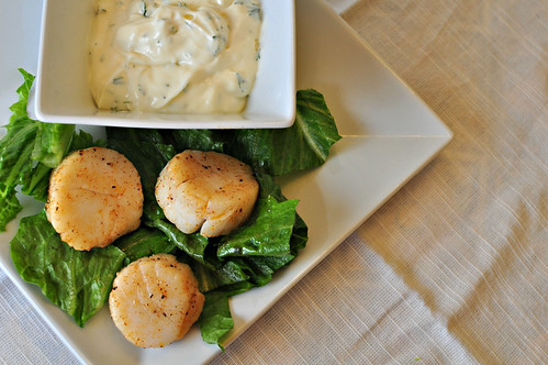Scallops with Dill Sauce