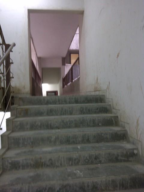 Pride Platinum - wide staircase & narrow connecting passage - Visit Amit's Sereno, Reelicon Alpine Ridge, Pride Platinum, Welworth Paradise, Venkateshwara Mirabel & Pride Valencia, near Pancard Clubs, Baner, Pune 411045