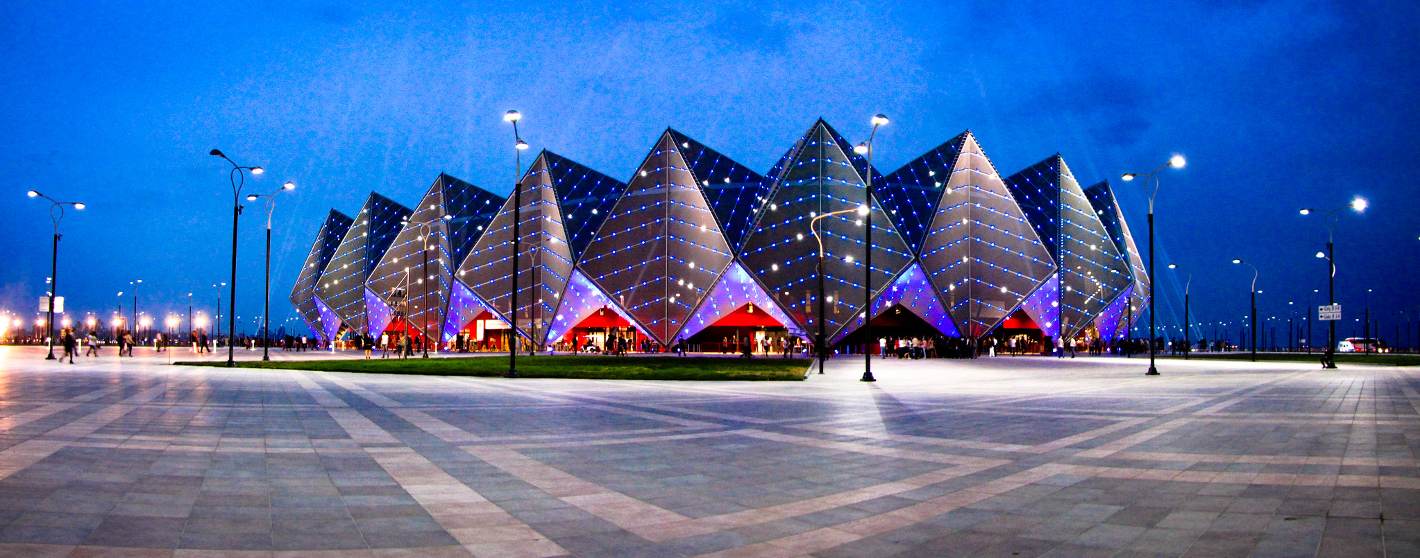 Crystal Hall at night