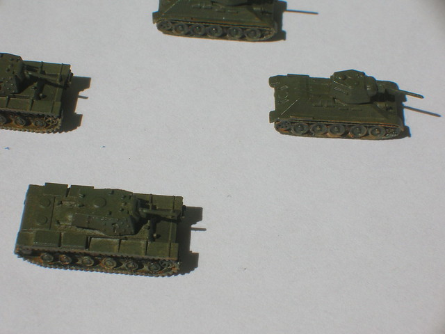 KV-1 and T-34D Soviet WWII tanks