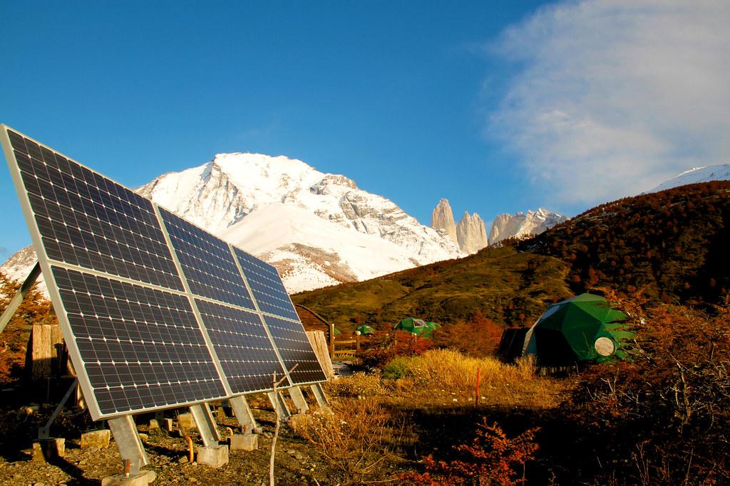 EcoCamp Patagonia Solar Panel in Torres del Paine