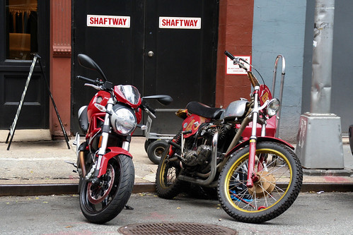 Old Triumph street tracker > New Ducati Monster by Alex Nunez