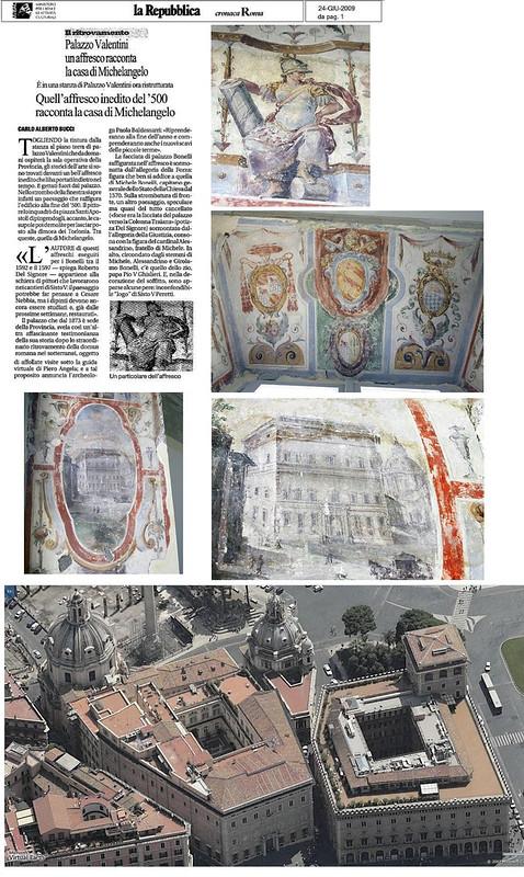 """ROMA ARCHEOLOGIA: Il Foro di Traiano - Cantiere di scavo del Palazzo Valentini (2006-10): Maria C. Cola, """"Palazzo Valentini a Roma : La committenza Zambeccari, Boncompagni, Bonelli tra '500 e '700,"""" Roma, Gangemi (2010), pp. 1-256."""