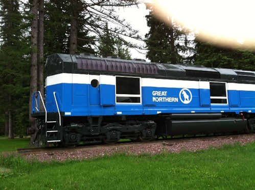 Retired ex Graet Northern Railroad EMD F 45 # 441.  The Izaak Walton Inn.  Glacier National Park Montana.  June 2012. by Eddie from Chicago