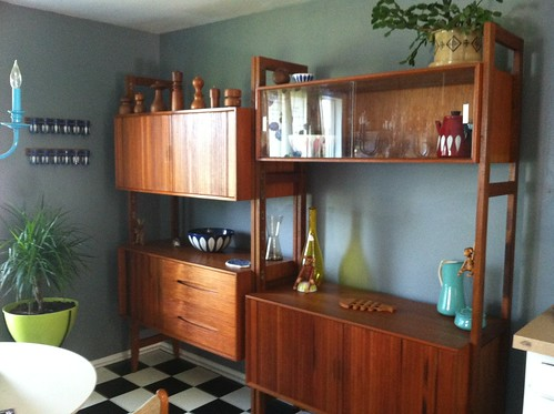 Teak Wall Unit - custom made by Ricardo Lynn for the original owner