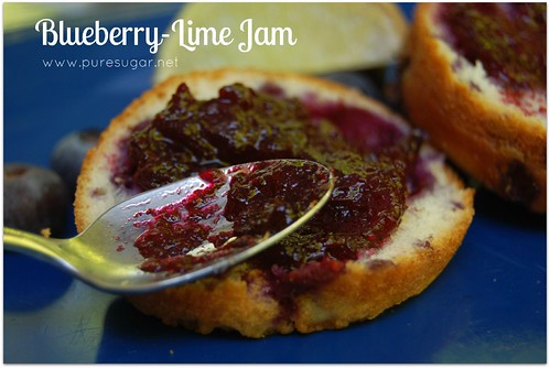 blueberry-lime jam