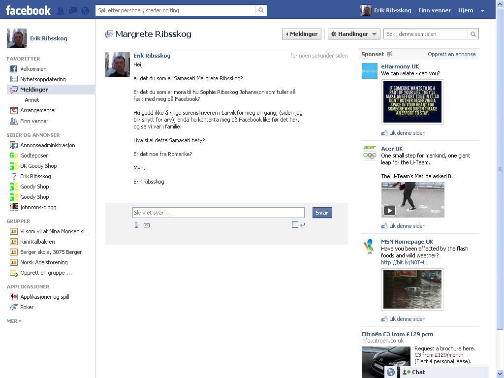samasati facebook melding