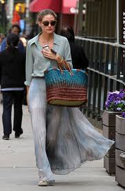 Olivia Palermo Maxi Skirt Celebrity Style Women's Fashion (3)