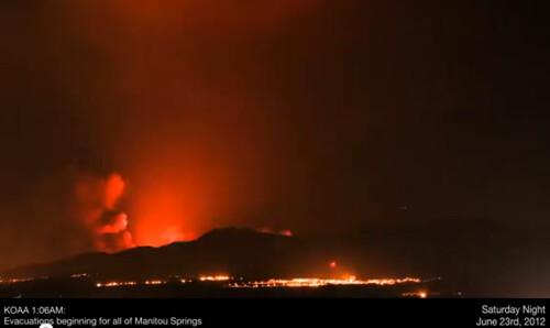 Waldo Canyon fire time lapse