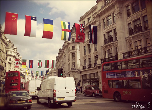 UK - London - Olympic Flags