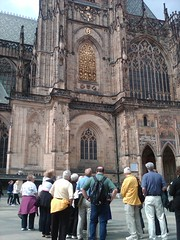 At the Vitus Cathedral in Prague