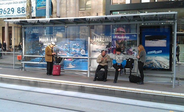 Mt Buller advert at tram stop