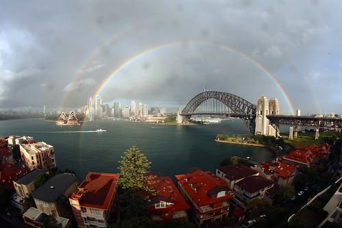 Sydney Double Rainbow
