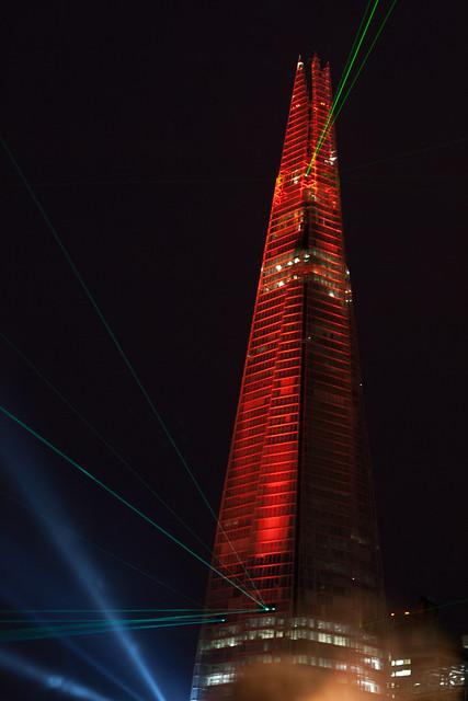 Так выглядит лондонский небоскреб Shard ночью