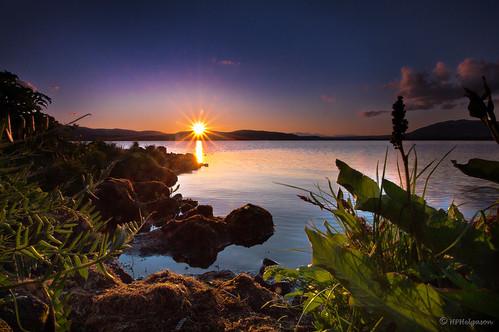 sunset lake iceland vatn sólsetur sogið hphson álftavat
