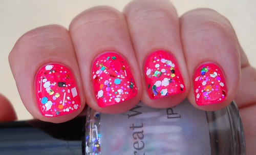 Pahlish Great Wide Open over Finger Paints Pink Perscective
