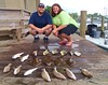 At The D'Iberville Marina...Flounders, Whiting, Redfish, Speckled Trout, & Florida Pompano Caught Aboard TEAM BRODIE CHARTERS - Robert & Jane Clare Edwards - Photo by Capt. Robert L. Brodie by teambrodiecharters