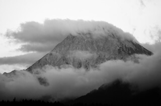 Mittagskogel with clouds - taken after six months of photography