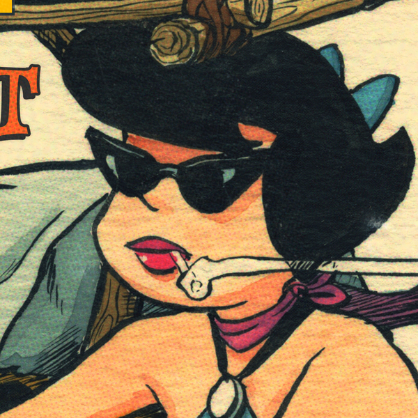 Bang Shift Betty Print Close-up