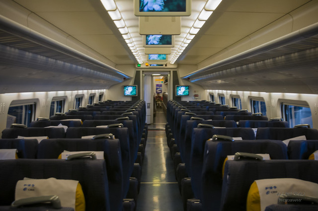 China Railway High-speed train Inside