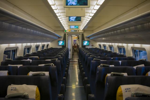 China Railway High-speed train Inside