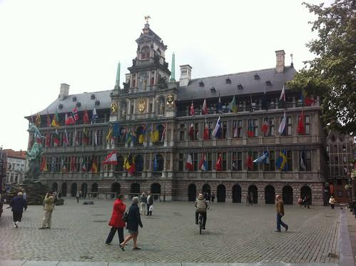 Market place in Antwerp