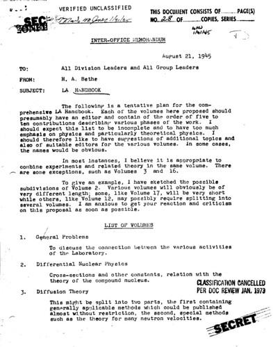 Los Alamos Handbook