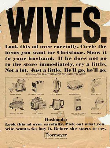 WIVES: Circle the appliances you want for Christmas