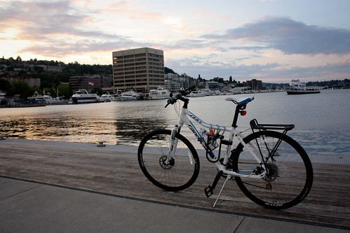 Bicycling a Tiny Piece of the Trail Around Lake Union
