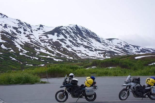 "high mountain pass ""skiers"""