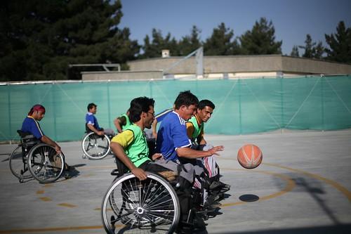 Kabul wheelchair basketball - ICRC orthopaedic center