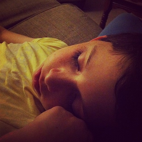 He fell asleep here in my lap...and I kinda just don't want to move. Ever. #mybabyboy #1000gifts