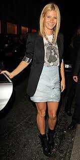 Gwyneth Paltrow Graphic Tshirt Celebrity Style Women's Fashion