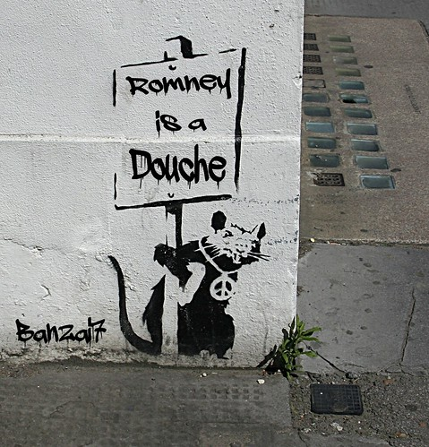 BANKSY SALUTES ROMNEY by Colonel Flick