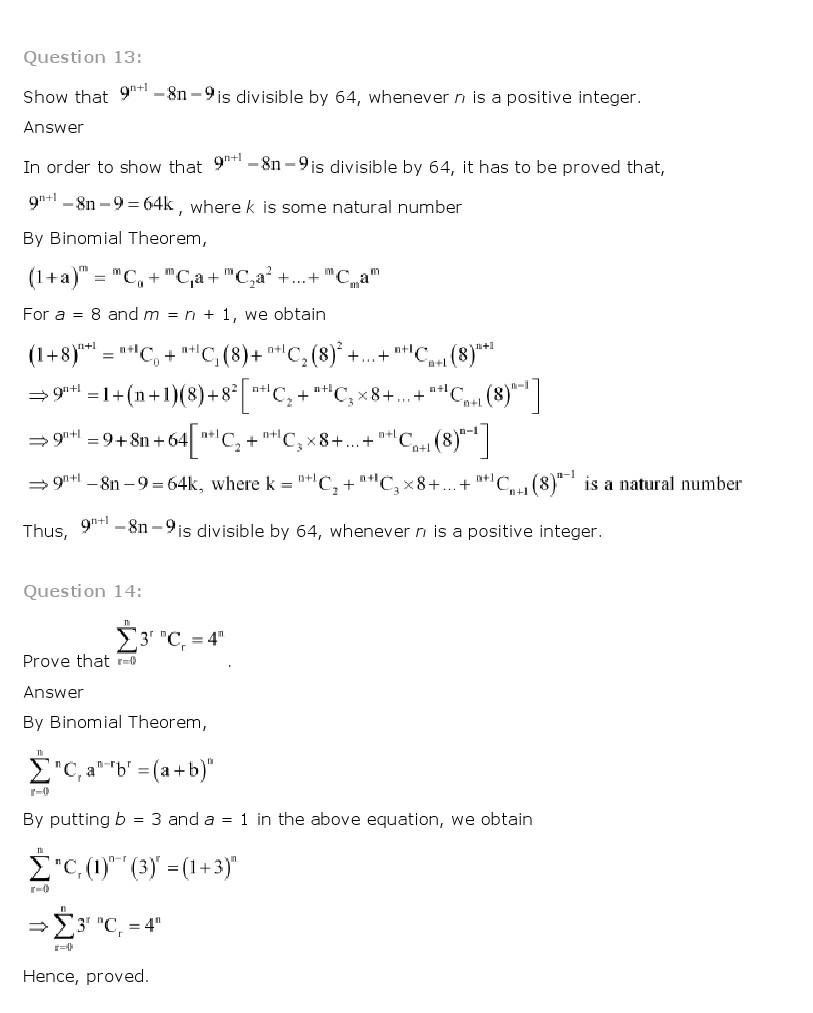 NCERT Solutions for Class 11 Maths Chapter 8 – Binomial Theorem ...