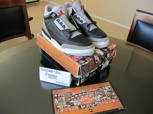 3b3da535b3d82f DEADSTOCK 1994 Nike Air Jordan 3 III BLACK CEMENT. Original ...