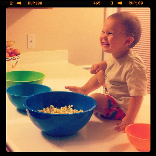 Popcorn two times in one day. He's had a good day.
