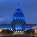 Blue Light City Hall by davidyuweb