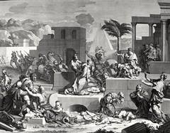 Phillip Medhurst presents Bowyer Bible Gospels print 3492 The slaughter of the innocents Matthew 2:16 after Bourdon