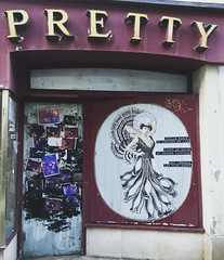 better than any gallery-- outsider wheatpaste work #brittany