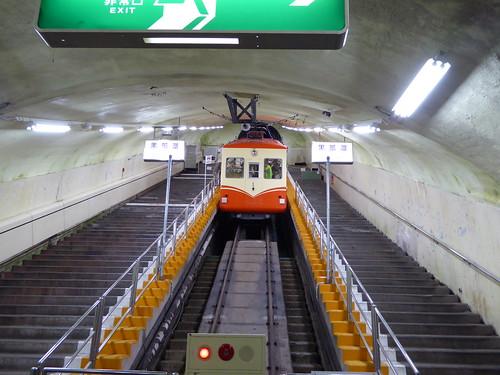 黒部ケーブルカー 豪雪から設備を保護するため全線トンネルで建設された