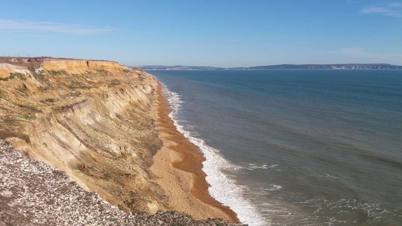 20160907_163333 Hordle Cliff at high tide