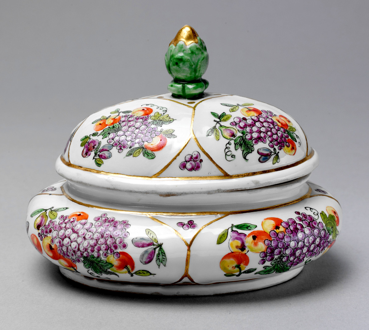 1730. Sugar Box. Austrian. Hard-paste porcelain. metmuseum