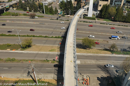 View of Gibbs bridge from aerial tram-1