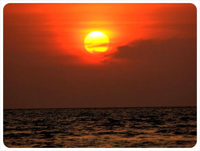 sunset over cenang beach langkawi