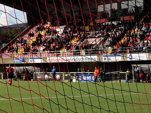 Seaview Main Stand through the Net