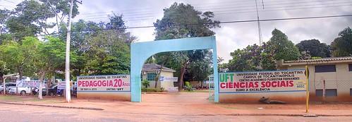 Panorama of entrance to Universidade Federal do Tocantins (UFT)