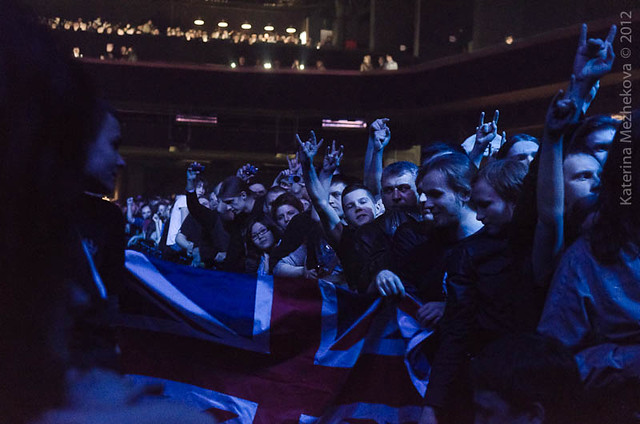 Judas Priest fans in Moscow
